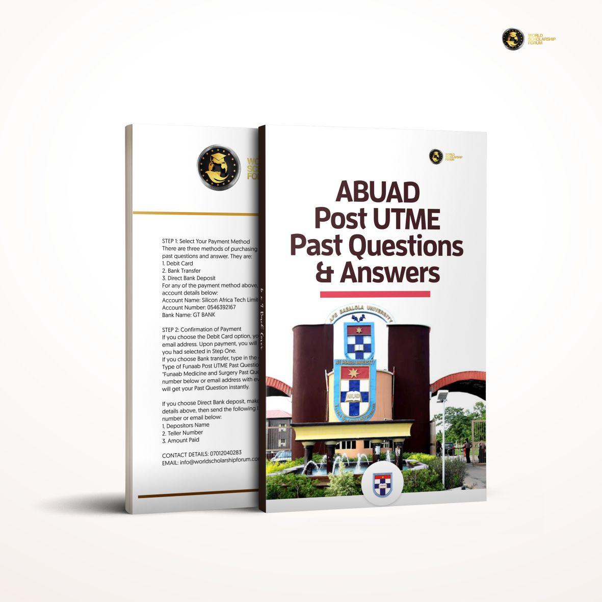 ABUAD Post Utme Past Questions