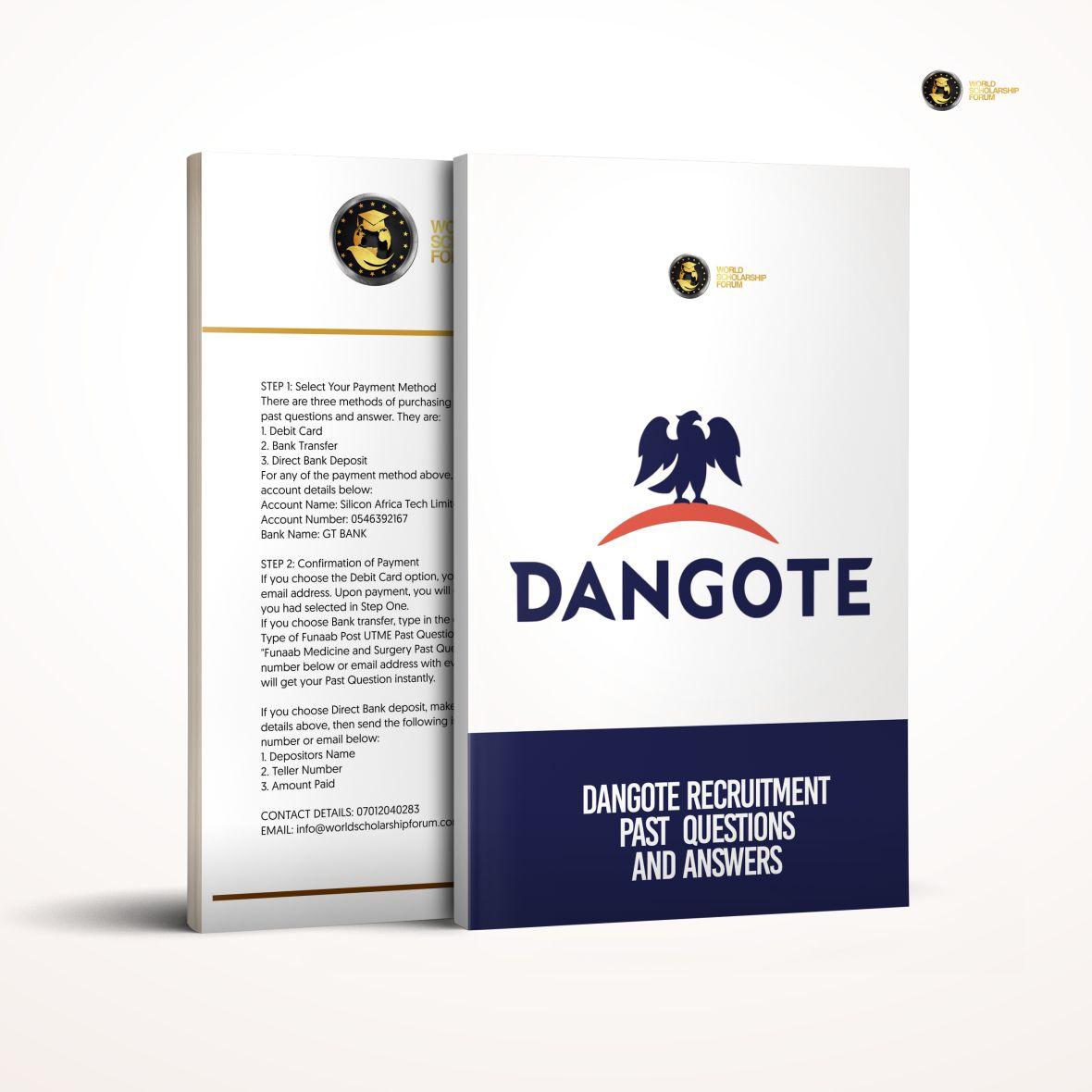 Dangote Job Aptitude Test Prep Pack | Past Questions & Answers