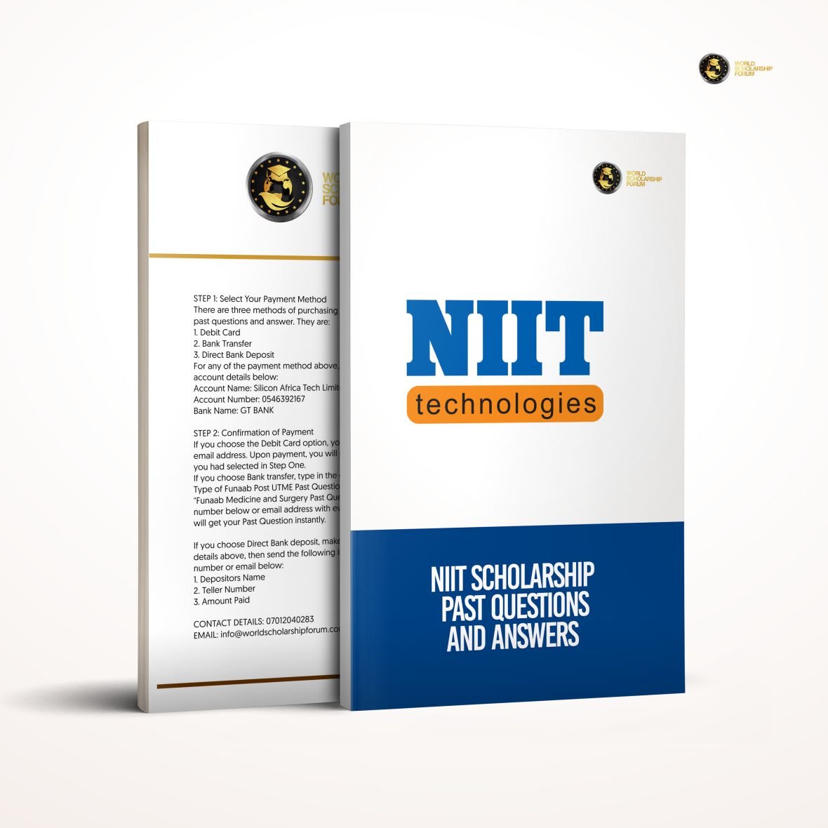 NIIT Scholarship EXAM Past Questions PDF