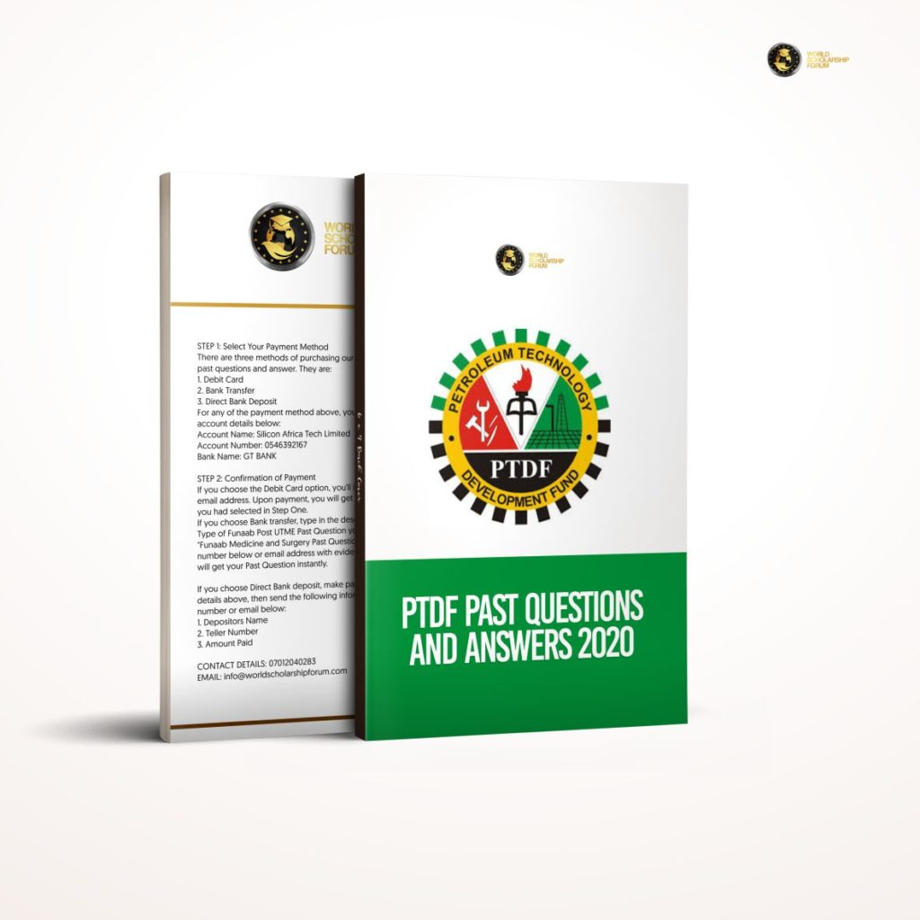 PTDF Past Questions and Answers 2021