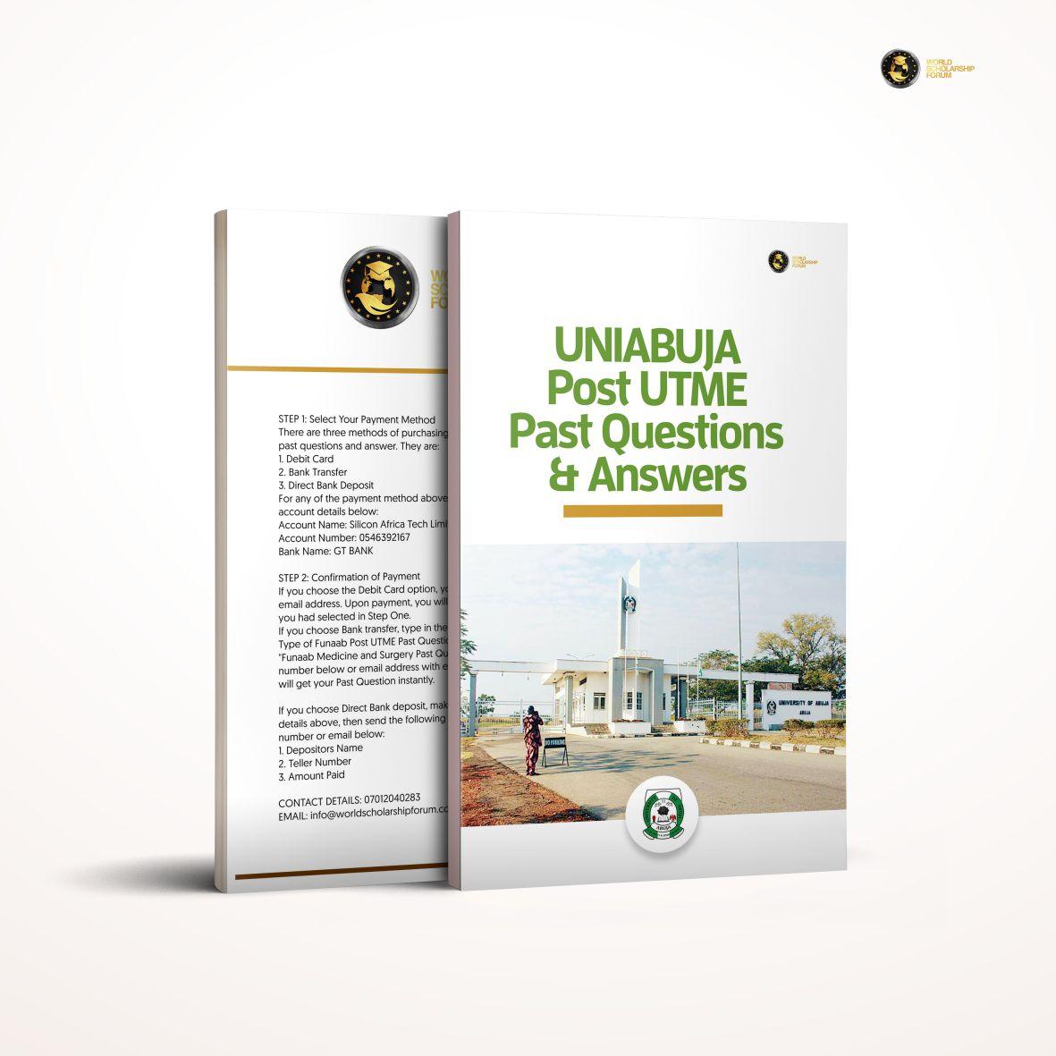 uniabuja-post-utme-past-question